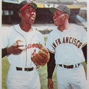 Hank Aaron & Willie Mays Baseball Card